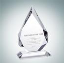 Custom Prestige Flame Optical Crystal Award Plaque - 9 3/4