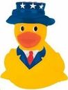 Custom Mini Rubber Patriotic Duck