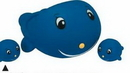 Custom Rubber Whale Family (One Large/Two Small)
