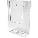 Custom Single Pocket Wall Mount Brochure Holder (4-3/4