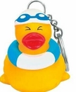 Custom Rubber Pool Pal Duck Key Chain