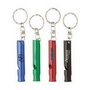 Custom Aluminum Whistle Keyring, 2.5