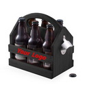 Custom Pine Wood Bottle Caddy, 10