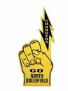Custom Bolt Finger Foam Hand Mitt