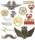 Custom 3D Antique Cast Emblems/Lapel Pin (No Lead) (1 3/4