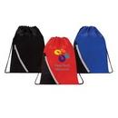 Custom Zipper Pocket Drawstring Backpack, 13.5