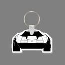 Custom Key Ring & Punch Tag - Corvette Car (Front)
