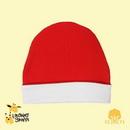 Custom The Laughing Giraffe Infant Ringer Beanie Hat - White/Red