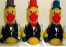 Custom Rubber Go Party Duck, 3 1/2