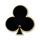 Custom Black Club Lapel Pin, 3/4