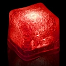Blank Red Lited Ice Cubes, 1 3/8