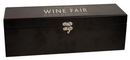 Custom Black matte Single Wine Box, 14 1/4