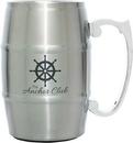 Custom Metal Barrel Mug w/ Handle (Silver), 5 5/8
