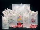 Custom Frosted Clear Poly Die Cut Bag/ 4 MIL (9