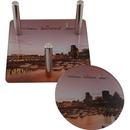 Custom Acrylic Coaster Set W/ 4 Round Coasters (4 1/2