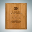 Custom Genuine Bamboo Plaque - Medium, 10
