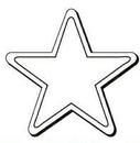 Custom Five Point Star Notekeeper Magnet- 35 Mil Process Color (3