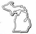 Custom Michigan Notekeeper Magnet- 35 Mil Process Color (3