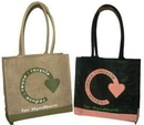 Custom All Natural Economy Tote with Rope Handles (15