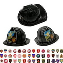 Custom Plastic Fire Hats With Paper Shields, 11 3/7