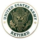 Custom Military - U.S. Army Retired Pin, 1