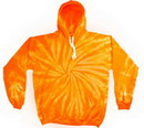 Custom Spider Orange Tye Dye Pullover Hoodie