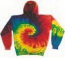 Custom Reactive Rainbow Tye Dye Hoodie