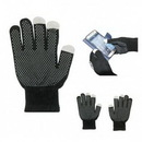 Custom Touch Screen Gloves With Grip Palm, 8 5/8