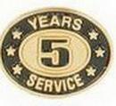 Custom Stock Die Struck Pin (5 Years Service)