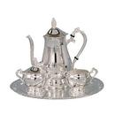 Custom Romantica Collection 4 Piece Silver Coffee Set