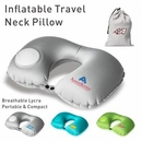 Inflatable Neck Pillow with Packsack, 10 Second Inflating Travel Neck Pillow, Blank, 4.8