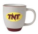 Custom 14 Oz., Bistro Heartland Colored Trim Mug (White/Burgundy Red)