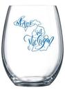 Custom 9 oz. Allure Sheer Rim Stemless Wine Glass, 2.4