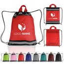 Custom Reflective Polyester Drawsting Backpacks, 13.50