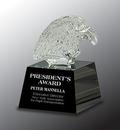 Custom Crystal Eagle Head Award, 3.75