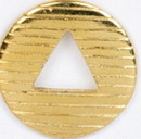 Custom Round Stock Cast Pin w/ Cut Out Triangle