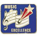 Blank Hard Stoned Enamel Music Pins (Music Excellence), 1