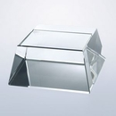 Custom Clear Crystal Four Sided Slant Base in Rectangle or Square, 4