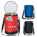 Custom Round Insulated Lunch Cooler Bag, 12 1/2