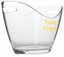 Custom Large Oval Wine Bucket W/ Handle, 10 1/8