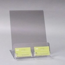 Custom Countertop Acrylic Sign Holder with 2 Business Card Holder, 8.5x11, 8.5