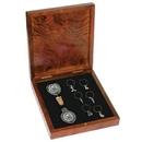 Custom Rosewood Kit- Wine Medal, Wine Stopper, 6 Wine Charms
