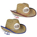 Child Size Cowboy Hat w/ Shoelace Band w/ Custom Shaped Faux Leather Icon