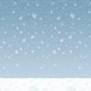 Custom Winter Sky Backdrop, 4' L x 30' W