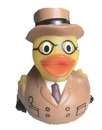 Custom Rubber Private Detective Duck Rubber Private Detective Duck Rubber Piravte Detective Duck, 3 1/2