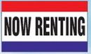 Blank 3'x5' Nylon Message Flag - Now Renting