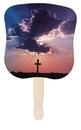 Custom Cross Stock Design Hand Fan