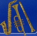 Blank Gold Plastic Musical Instruments
