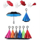 Custom Windproof Upside Down Reversed Two Layer Umbrella, 23