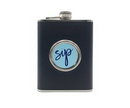 Custom Stainless Steel Flask with Built-In Cup, 5 1/2